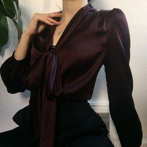 Burberry Silk Bow Blouse